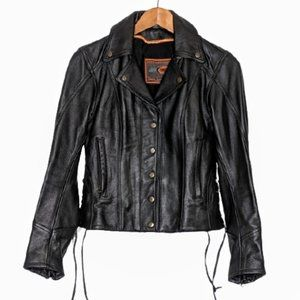Leather Motorcycle Jacket - First Classics XS